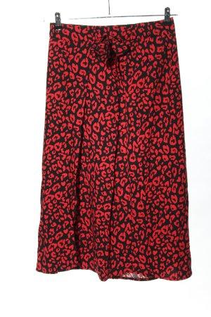 Street One Spódnica midi czarny-czerwony Na całej powierzchni W stylu casual