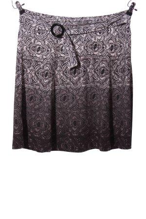 Street One Spódnica midi czarny-jasnoszary Tkanina z mieszanych włókien