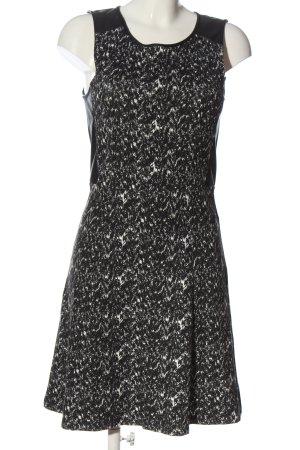 Street One Minikleid schwarz-wollweiß abstraktes Muster Casual-Look