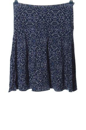 Street One Mini rok blauw-wit volledige print casual uitstraling