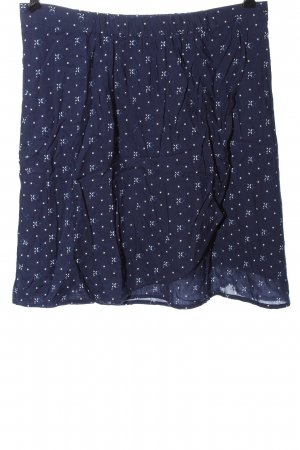Street One Mini rok blauw abstract patroon casual uitstraling