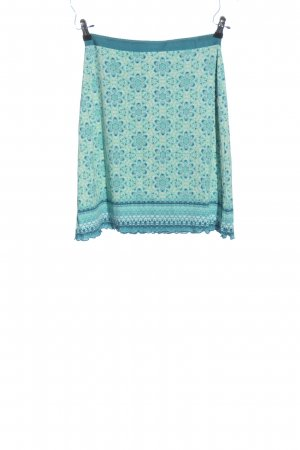 Street One Mini rok blauw-turkoois volledige print casual uitstraling