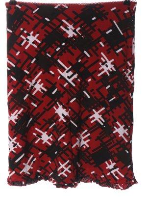 Street One Mini rok rood-zwart volledige print casual uitstraling