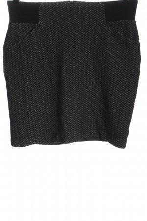Street One Miniskirt black-light grey weave pattern business style