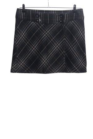 Street One Mini rok zwart-lichtgrijs volledige print casual uitstraling