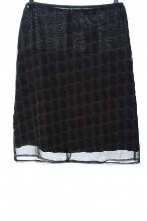 Street One Mini rok zwart-lichtgrijs abstract patroon casual uitstraling