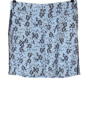 Street One Mini rok blauw-zwart volledige print casual uitstraling