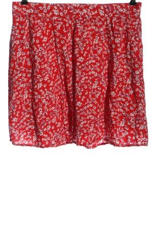 Street One Mini rok rood-wit volledige print casual uitstraling