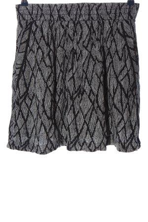 Street One Mini rok lichtgrijs-zwart volledige print casual uitstraling