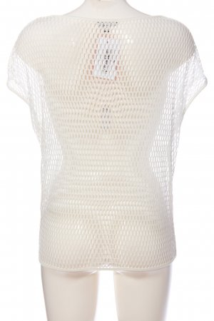 Street One Mesh Shirt white weave pattern casual look