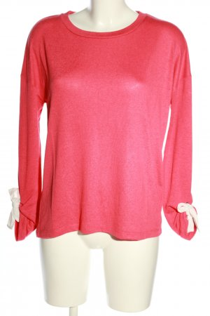 Street One Oversized Pullover pink-weiß Casual-Look