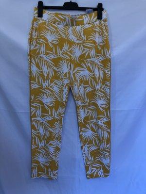Street One Pantalone culotte bianco-giallo-oro