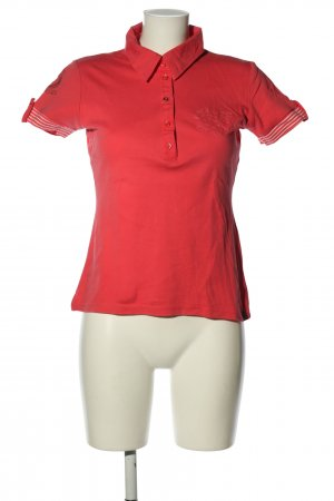 Street One Polo-Shirt rot Casual-Look