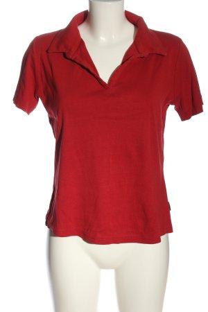 Street One Camiseta tipo polo rojo look casual