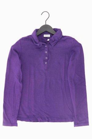 Street One Poloshirt Größe 38 Langarm lila aus Baumwolle