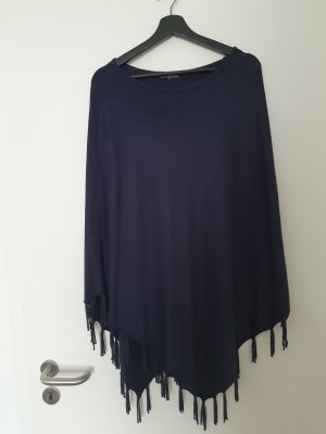 Street One Knitted Poncho dark blue