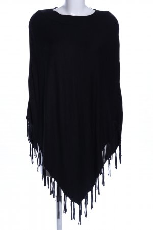 Street One Poncho negro look casual