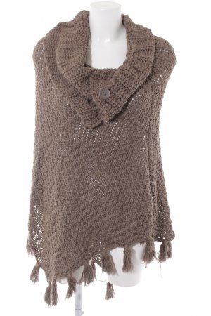 Street One Poncho hellbraun Casual-Look