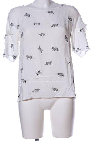 Street One Print-Shirt weiß-schwarz Allover-Druck Casual-Look
