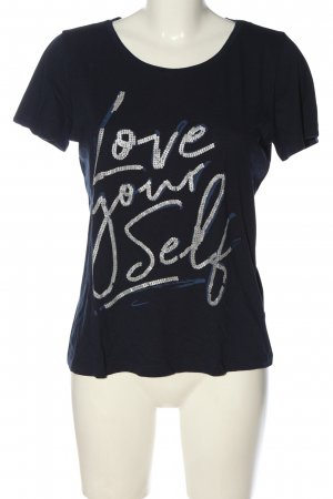 Street One Print-Shirt schwarz Schriftzug gedruckt Casual-Look