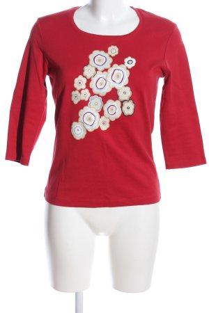 Street One Print-Shirt rot-weiß Motivdruck Casual-Look