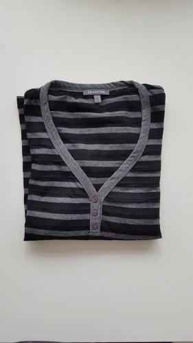 Street One Stripe Shirt black-grey