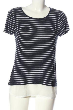 Street One T-shirt rayé noir-blanc motif rayé style décontracté