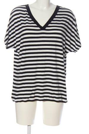 Street One Ringelshirt schwarz-weiß Allover-Druck Casual-Look