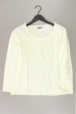 Street One Ringelshirt Größe 44 gestreift gelb aus Baumwolle