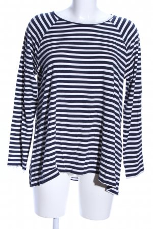 Street One Stripe Shirt black-white striped pattern casual look