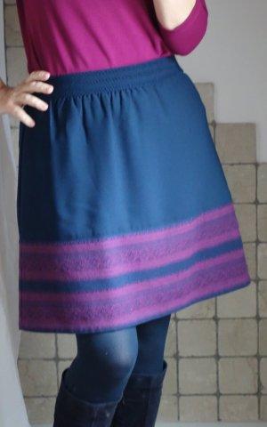 Street One Mini rok donkerblauw-violet Gemengd weefsel