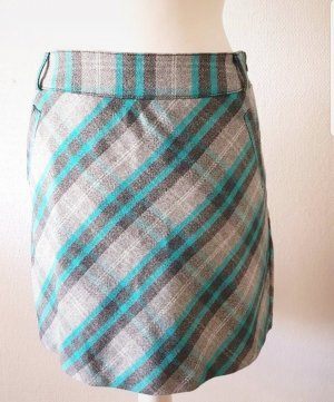 Street One Wool Skirt grey-turquoise