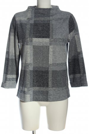 Street One Turtleneck Sweater light grey check pattern casual look