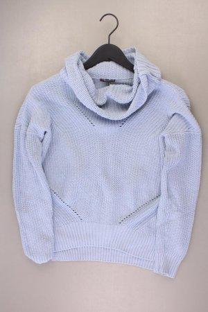 Street One Turtleneck Sweater blue-neon blue-dark blue-azure cotton