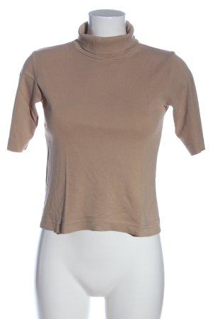 Street One Camisa de cuello de tortuga marrón look casual