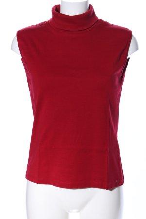 Street One Top con colletto arrotolato rosso stile professionale