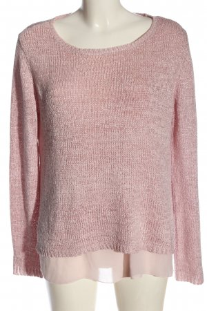 Street One Rundhalspullover pink Zopfmuster Casual-Look