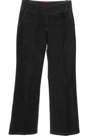 Street One Pantalon pattes d'éléphant noir-blanc imprimé allover