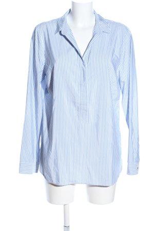 Street One Schlupf-Bluse blau-weiß Streifenmuster Business-Look
