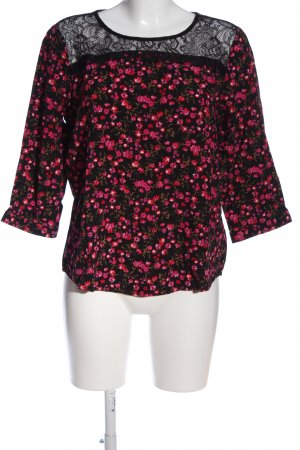 Street One Slip-over Blouse black-pink allover print casual look