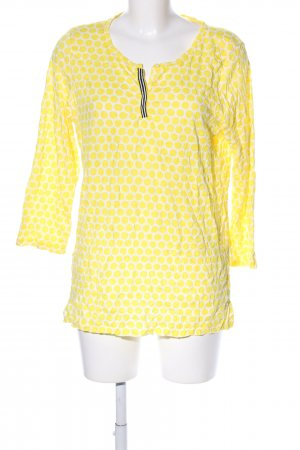 Street One Slip-over Blouse primrose-white spot pattern casual look