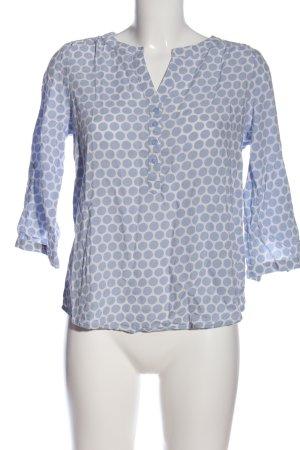 Street One Schlupf-Bluse blau-weiß Punktemuster Casual-Look
