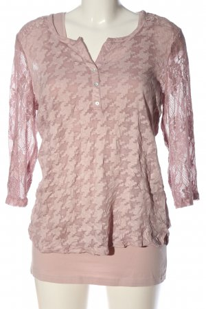 Street One Schlupf-Bluse pink Karomuster Casual-Look