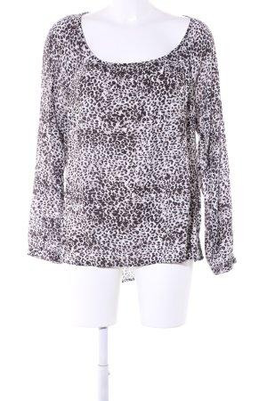 Street One Slip-over blouse wit-bruin luipaardprint extravagante stijl