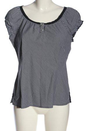 Street One Schlupf-Bluse schwarz-weiß Allover-Druck Casual-Look
