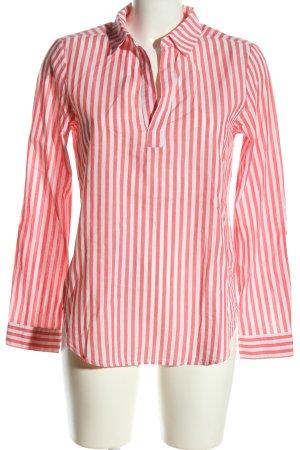 Street One Schlupf-Bluse pink-weiß Streifenmuster Casual-Look