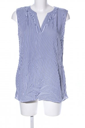 Street One Slip-over Blouse blue-white striped pattern casual look
