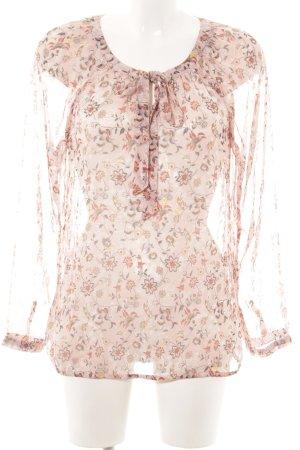 Street One Schlupf-Bluse pink Blumenmuster Transparenz-Optik