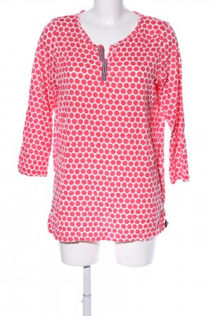 Street One Slip-over Blouse white-red spot pattern casual look