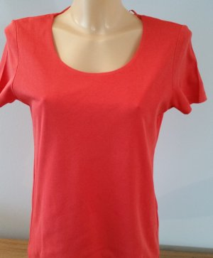 Street One - Schmales Basic Shirt Pania - Gr. 38 - hibiscus red